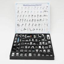 INNE-Kit de prensatelas multifuncionales para el hogar, accesorios para máquinas de coser para Singer Brother, 52/62/72/82 Uds.