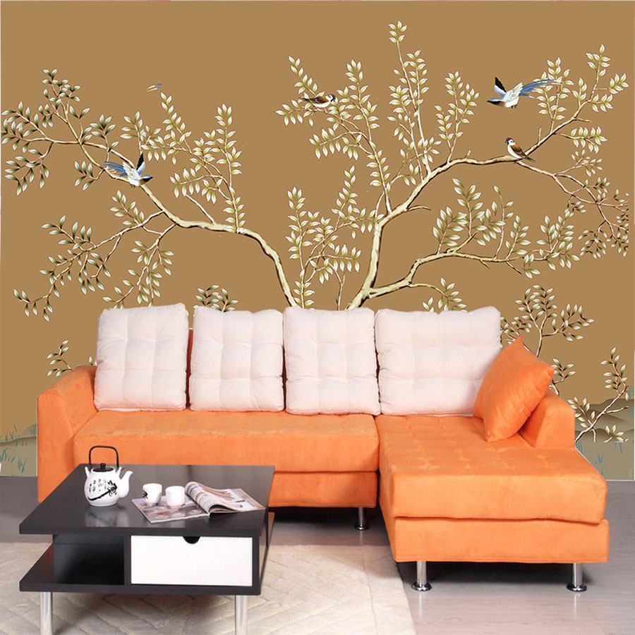 Orange Bedroom Wallpaper Online Buy Wholesale Bedroom Wall Coverings From China Bedroom