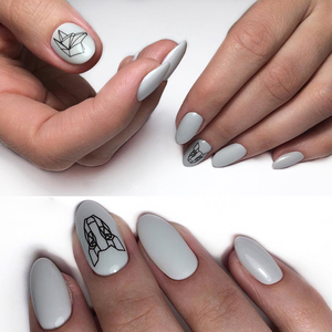 Image 5 - 1pc Abstract Animal 3D Nail Art Stickers Folding Lions Nail Sticker Origami Animal Flexagon Adhesive Decals