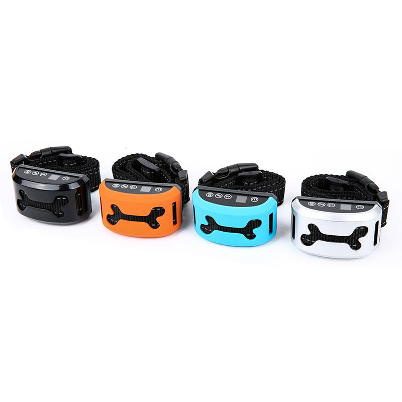 Impermeable collar anti ladridos del perro ajustable 7 niveles de sensibilidad vibración stop Barking Dog Collares de adiestramiento