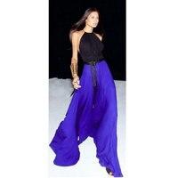 2018 летние женские Модное Длинное Платье colorant match slim waist halter neck длинный дизайн расширение нижней части цельного платья