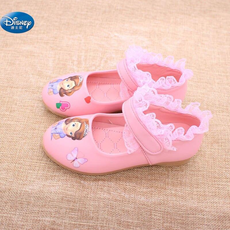 Disney Sophia Princes chaussures décontractées filles 2017 printemps nouveau style Sofia la première princesse doux dessin animé chaussures Europe taille 26-30