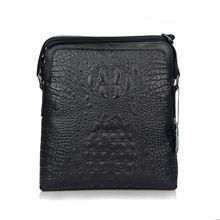 Модные мужские сумки мессенджеры из натуральной кожи с крокодиловой