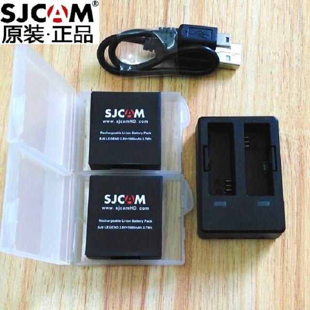 SJCAM SJ6 Legend оригинальные аксессуары SJ6 аккумуляторы перезаряжаемая батарея двойное зарядное устройство чехол для батареи для SJCAM спортивная экшн камера