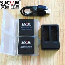 Sjcam sj6 lenda original acessórios sj6 baterias recarregáveis bateria carregador duplo bateria caso para sjcam ação esportes câmera