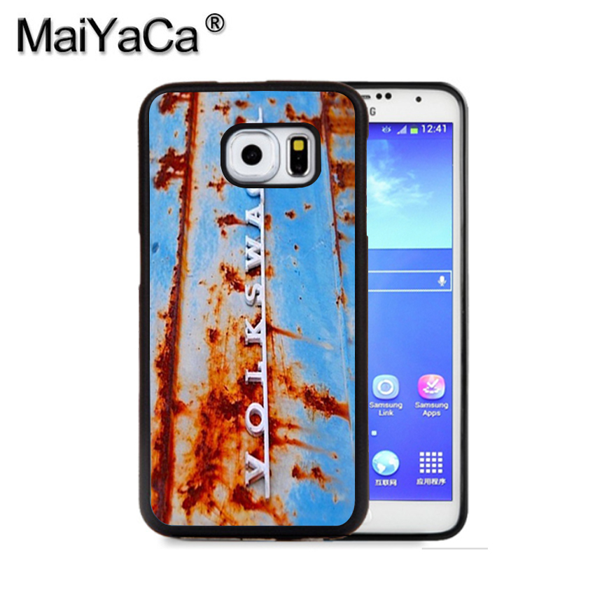 MaiYaCa Volkswagen VW Rusty Campervan Hippy Phone Case For Samsung S9 S8 Plus S7 S6 Edge Plus Note 8 7 5 S5 S4 Rubber Cases