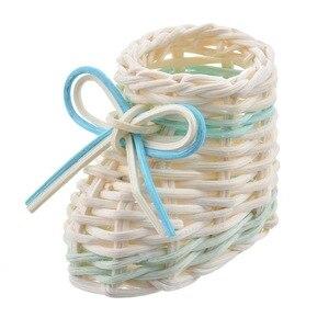 Image 5 - Práctica canastas de lavandería redonda con diseño geométrico, cesto de almacenamiento plegable, cesto para ropa de juguete, soporte plegable, organizador de rejilla gris, 1 unidad