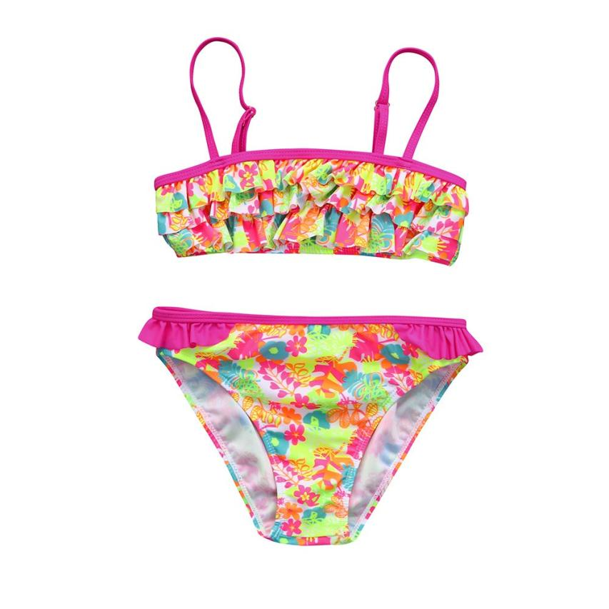 2018 New Arrival Infant Kids Girls Floral Swimwear Swimsuit Bathing Set Outfits Set beach wear Mar 14
