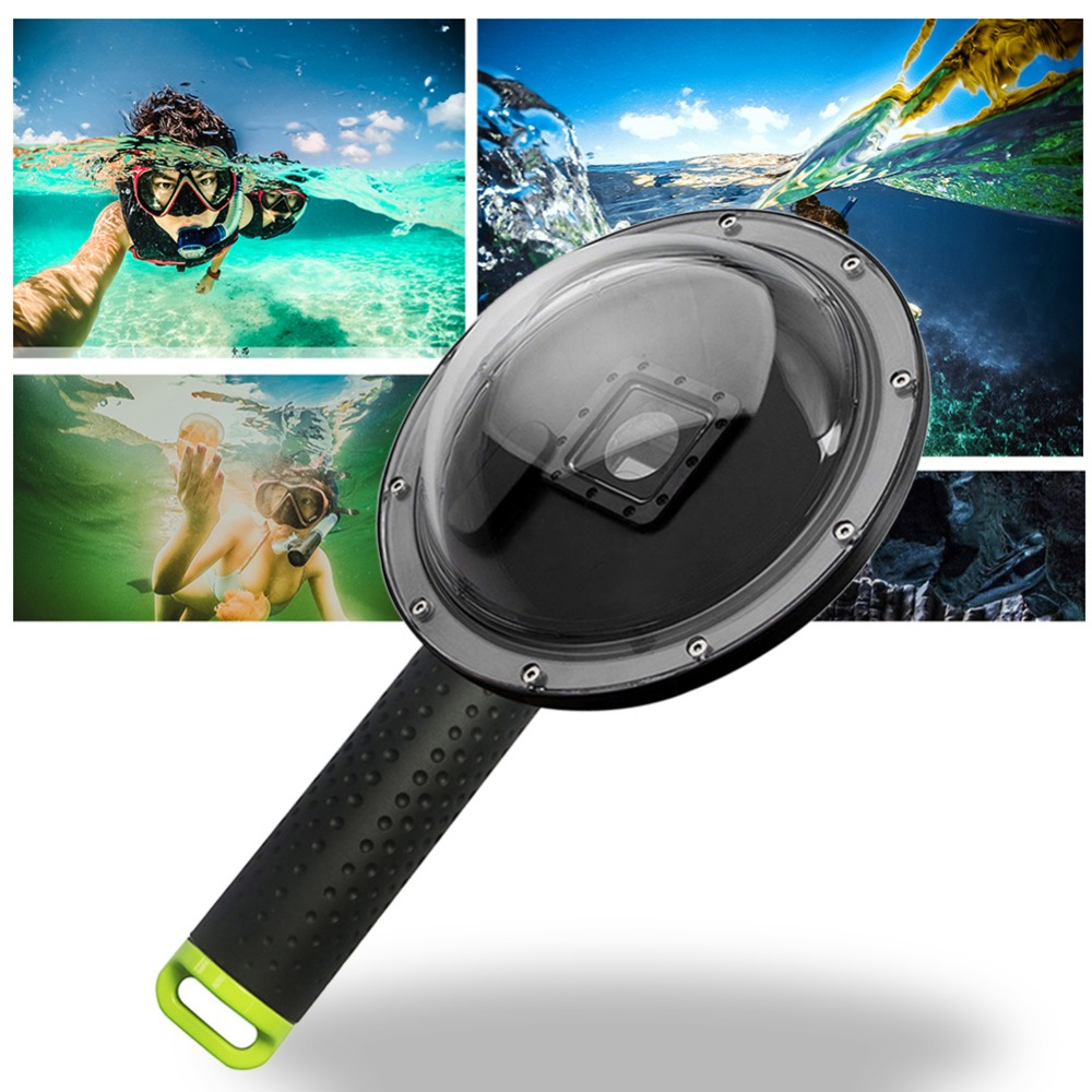 цена на XTGP258 Dome Port Lens Cover Waterproof Swimming Driving Camera Lens Box Sealing Shield Underwater Shoot for GoPro Hero3+/4