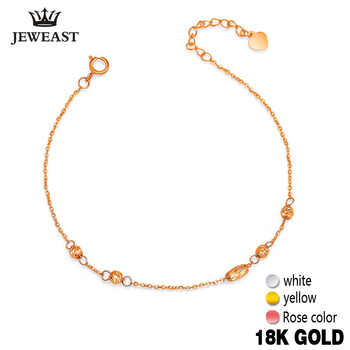 18k Gold Bracelet Luck Beads Women Girl Party Gift Lover 2017 New Genuine 750 Bangle Classic Discount Hot Sale Good Nice Fine - DISCOUNT ITEM  55% OFF All Category