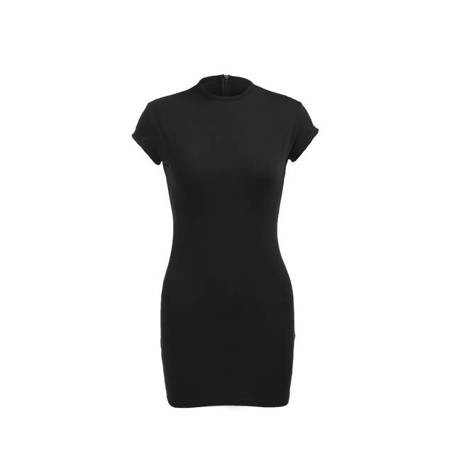 3d03136c91 US $4.52 29% OFF|Women Summer Short Sleeve Tight Dress Stretch Bodycon  Party Mini Dress Women Sheath Solid Skinny Mini Dresses Summer Clothing-in  ...