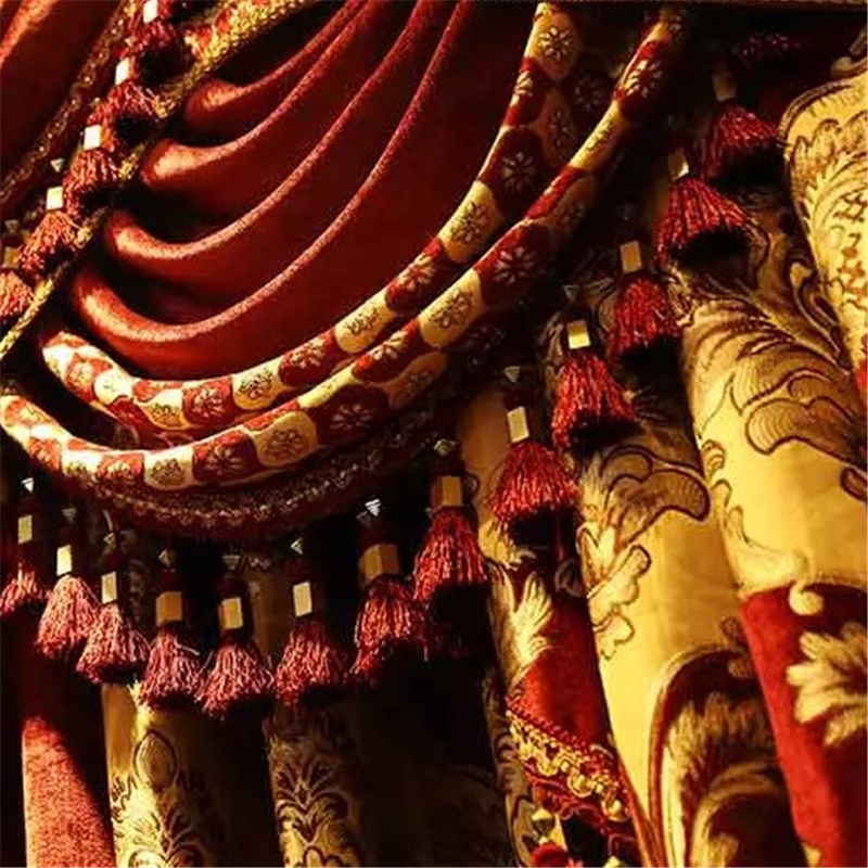 Royal aristocratic European embroidery full shade curtains for living room upscale villas decorated curtains for bedroom Hotel in Curtains from Home Garden