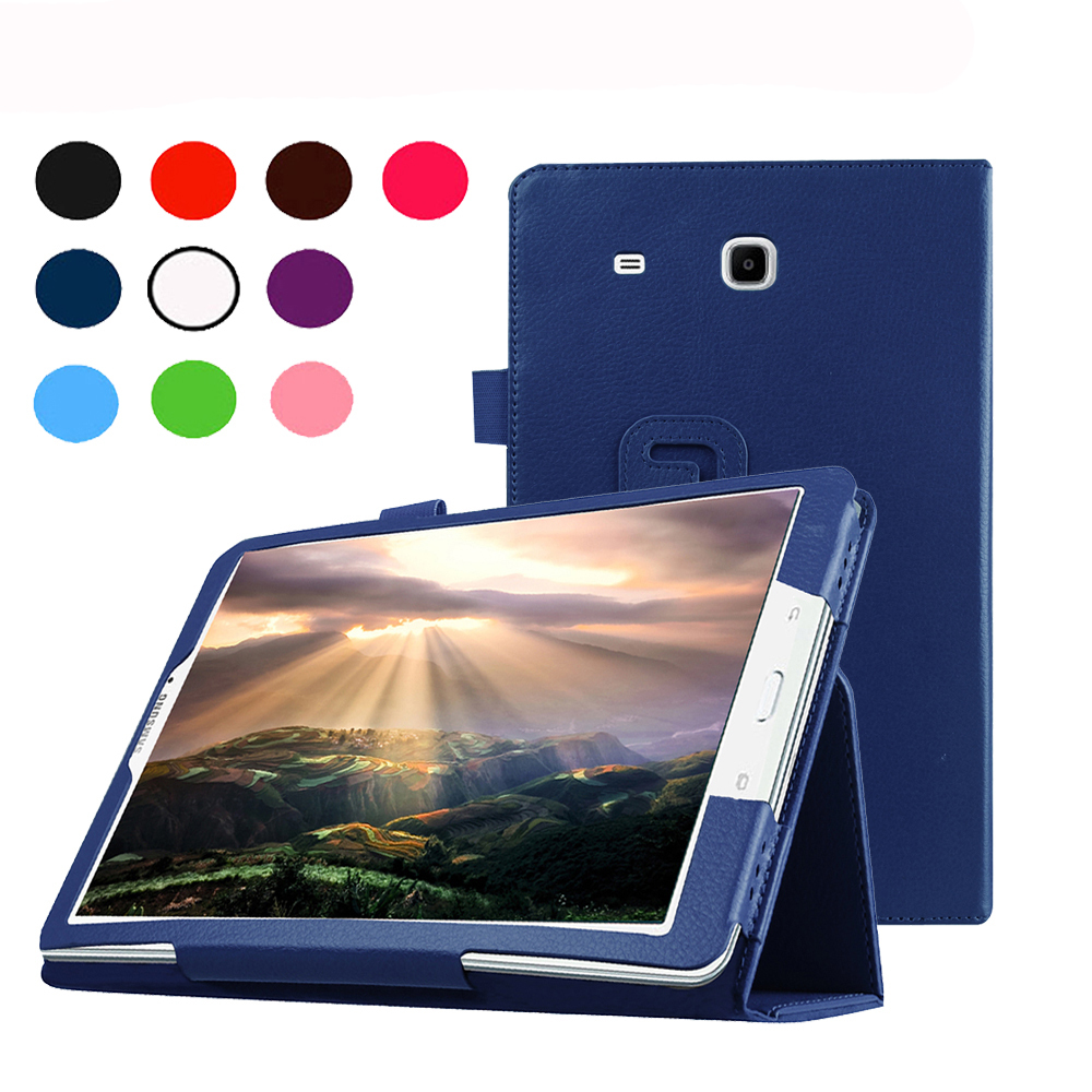 Fashion Top Quality PU Leather Leather Stand for Samsung Galaxy Tab E 9.6 T560 T561 Tablet Case Cover Protective case
