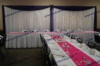 3x6 м Sheer Свадебные занавес с bluedrape свадебный фон с Swag шифон фон белого цвета свадебные украшения