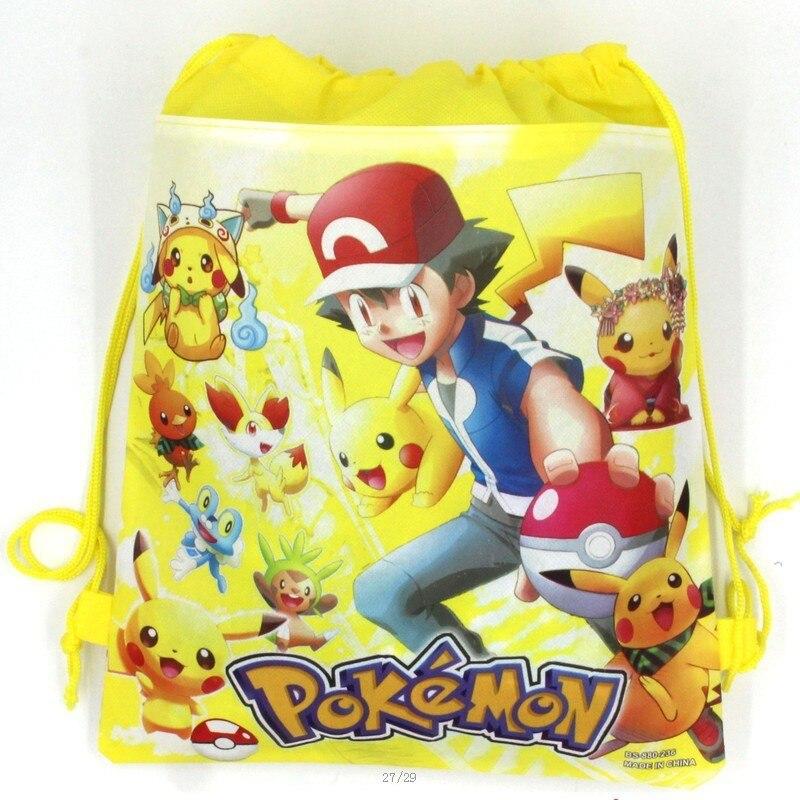 20 stücke 34 * 27 cm Pokemon Gehen vlies taschenstoffe kordelzug - Partyartikel und Dekoration - Foto 6