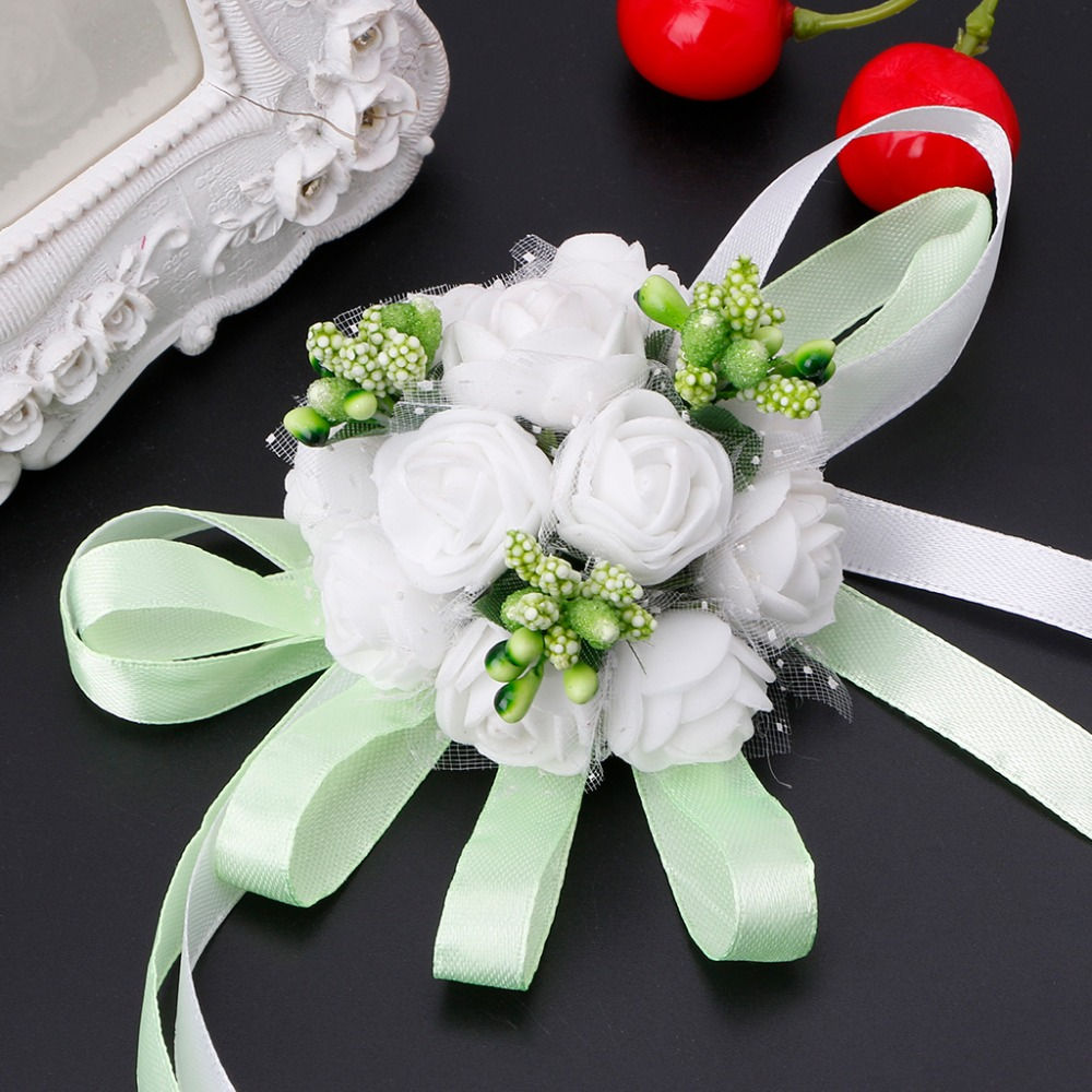 Beautiful Wrist Corsage Bracelet Bridesmaid Sisters Hand Flowers