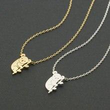 Daisies 1pc Gold Silver Koala Necklace Australian Koala Bear Woodland Necklaces Pendants Animal For Women Jewelry collier femme