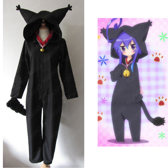 Anime Acchi Kocchi Black Cat Jumpsuits Miniwa Tsumiki Cosplay Costume Any Size-in Anime Costumes ...