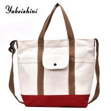 2019 New minimalism Tote Reusable bag White Shopping bags for women Casual Shoulder Bag bolsa feminina Women's Canvas Handbags все цены