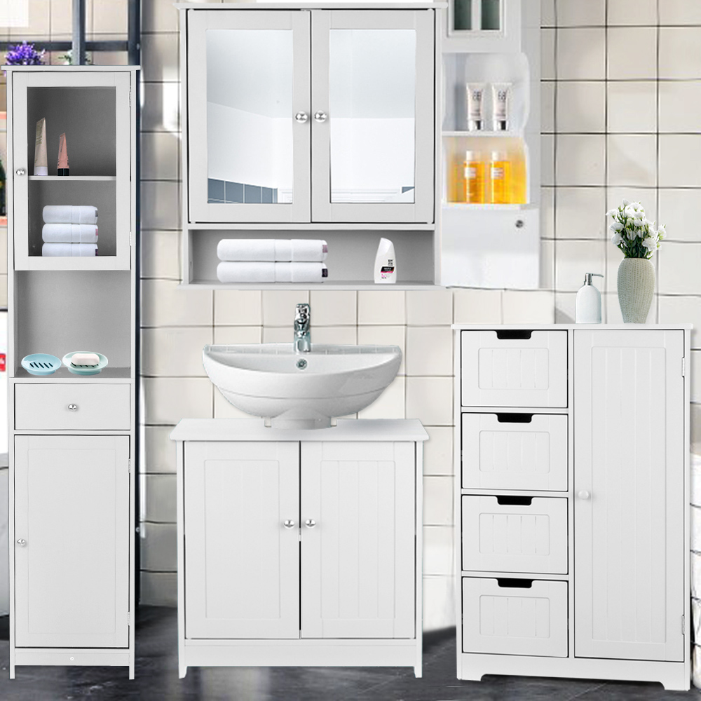 Ikayaa Floor-Cabinet Furniture Drawers Storage-Organizer Shelved Bedroom Modern
