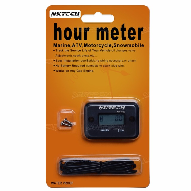 2017 New Arrival New Mini Multifunctional Counter Nktech Timer Inductive Water Resist Hour Meter Motocross Gas Counters Nk-hs2