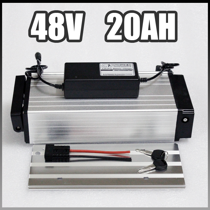 electric bike battery 48v 20ah, rear rack Samsung Electric Bicycle aluminium Battery with BMS Charger 48v 8fun ebike battery rear rack ebike 52v 20ah e bike battery 14s 3c 18650 li ion 51 8v 20ah battery pack for electric bicycle 48v 1000w 1200w motor