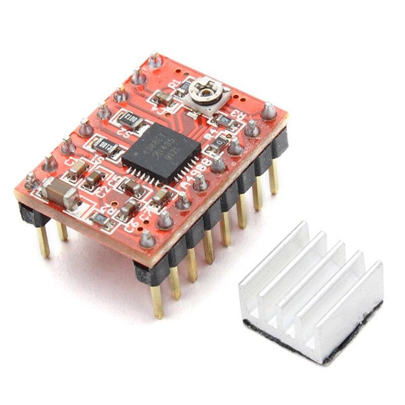 Impresora 3D Reprap Stepper Controlador A4988 Motor Paso A Paso Módulo + Disipad