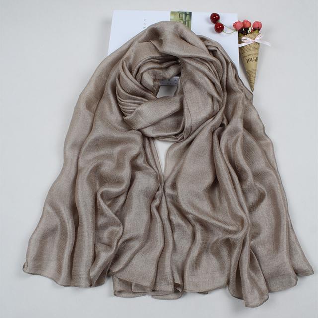 Summer Silk Flax Women Scarves