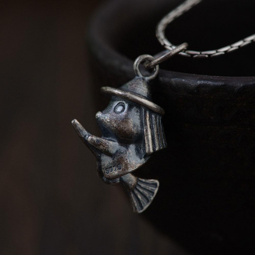 FNJ 925 Silver Witch Pendant New Fashion 100% Pure S925 Original Thai Silver Pendants for Women Men Jewelry Making