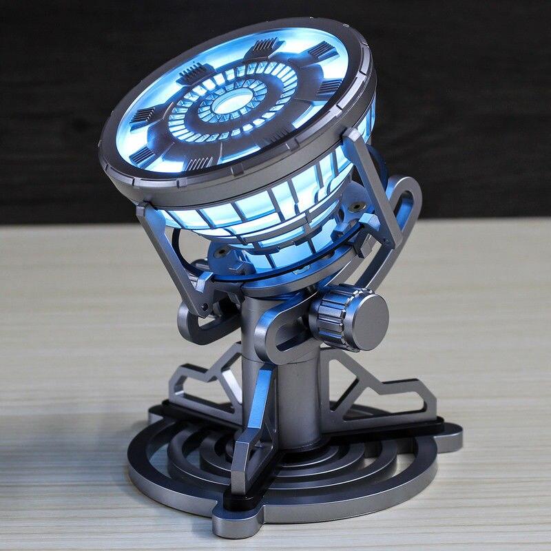 Légende Échelle 1:1 The Avengers Super-Héros Ironman Anime Iron Man Arc Reactor Avec LED Lumière PVC Action Figure Enfants Jouets poupée