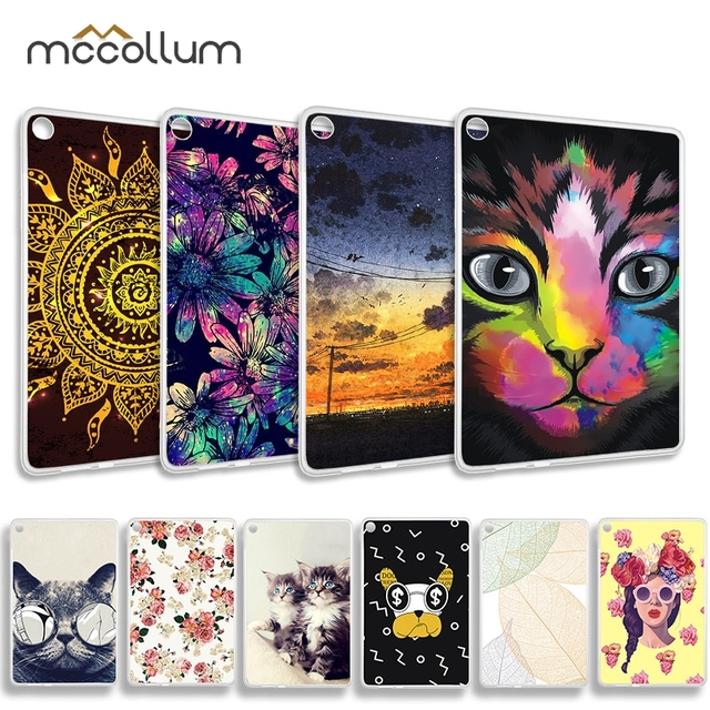 Phone Cases For Huawei MediaPad M5 Lite Case Silicon Cover M2 10.0 T1 10 9.6 8.0 7.0 Plus Tablet Bags T3 8.0 10 Honor WaterPlay