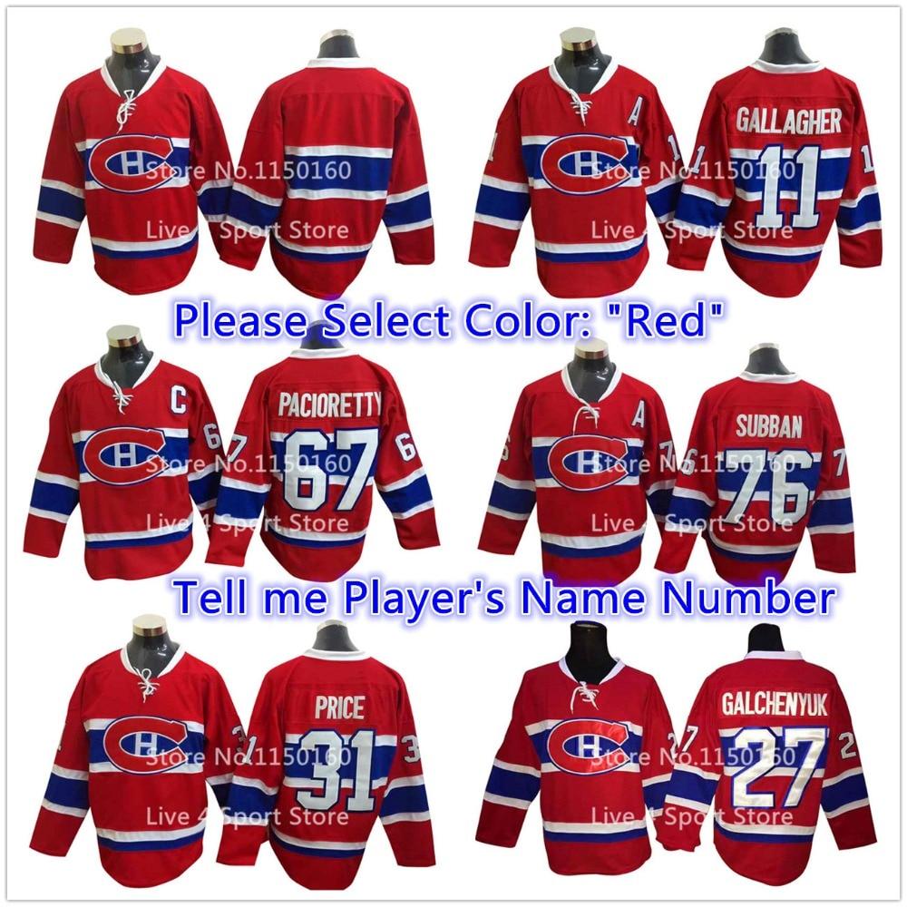 6333b57cc 2016 Montreal Canadiens Jersey Hockey Max Pacioretty Patrick Roy Carey  Price PK Subban ...
