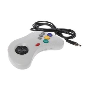 Image 3 - 1 قطعة USB الكلاسيكية غمبد تحكم السلكية أذرع التحكم في ألعاب الفيديو Joypad ل سيجا زحل قطعة USB غمبد تحكم