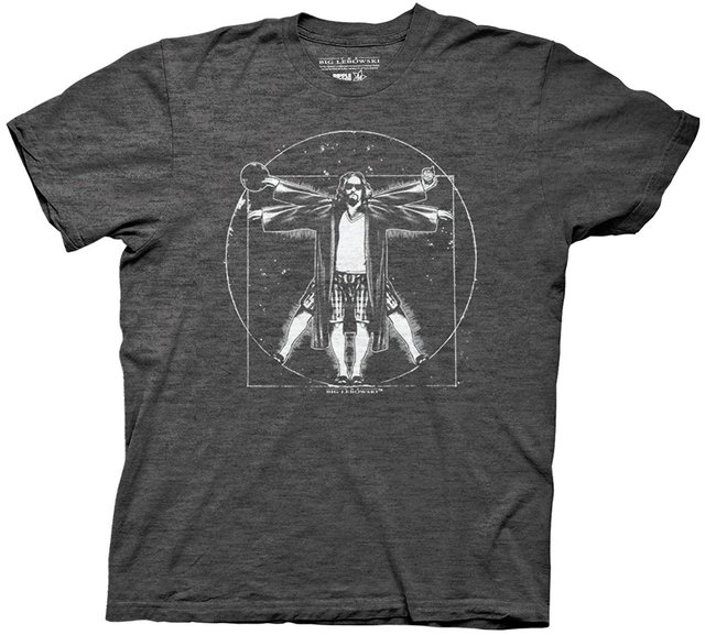 The Big Lebowski Vitruvian Mens T-Shirt