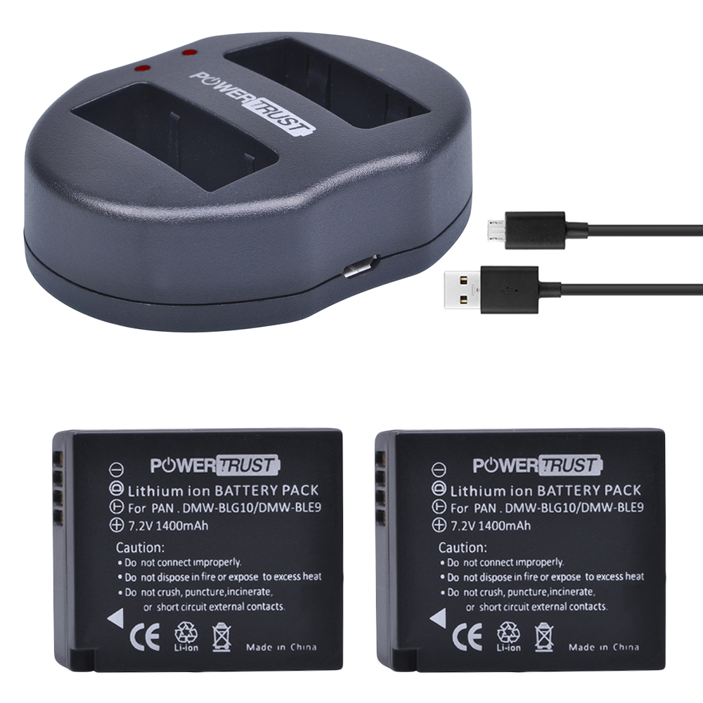 2Pcs DMW-BLG10 DMW BLG10 DMW-BLE9 BLE9 BLE9E Camera Battery+ Dual USB Charger for Panasonic Lumix DMC GF6 GX7 GF3 GF5 GX80 tectra 4pcs dmw blg10 dmw ble9 bp dc15 bateria usb dual charger with ac adaptor for panasonic lumix gf5 gf6 gx7 lx100 gx80