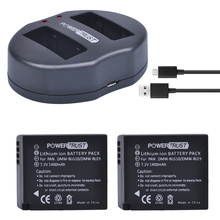 2Pcs DMW-BLG10 DMW BLG10 DMW-BLE9 BLE9 BLE9E Camera Battery+ Dual USB Charger for Panasonic Lumix DMC GF6 GX7 GF3 GF5 GX80