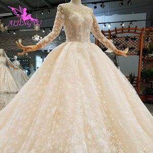 Image 5 - AIJINGYU فستان زفاف حقيقي العروس هاواي التركية حجم كبير الأفريقية صنع في تركيا الفاخرة دبي فساتين الزفاف