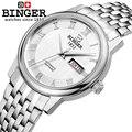 Switzerland watches men luxury brand Wristwatches BINGER business Mechanical Wristwatches leather strap Water Resistance B653G