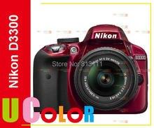 Nikon D3300 DSLR 24.2 MP HD 1080p Digital SLR Camera Body + 18-55mm Lens – RED