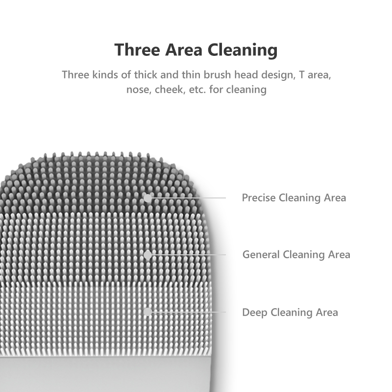 Image 2 - InFace Electric Deep Facial Cleaning Massage Brush Sonic Face Washing IPX7 Waterproof Silicone Face Cleanser for Lover-in Powered Facial Cleansing Devices from Home Appliances