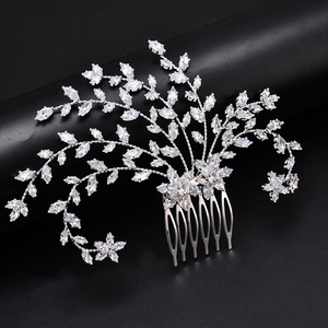 Image 1 - Tiara Hadiyana Fashion Bride Crown Jewelry Headpiec Soft Luxury Barrettes With Zircon Women BC4918 Bridal Hair Combs Accessories