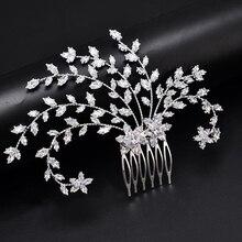 ティアラ hadiyana ファッション花嫁王冠の宝石 headpiec ソフト高級ジルコン女性 BC4918 でブライダルヘアくしアクセサリー