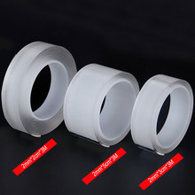 Nano Magic Tape 3M 50/30/20/10mm Transparent  Double-sides Adhesive Tape Sticker PU Waterproof Electrical Tape For Home Repair 1x new 15mm 55m 0 13mm 3m 9495mp 200mp adhesive clear pet 2 sides sticky tape for soft led strip bond waterproof