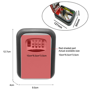 Image 5 - Key Safe Box Security Key Holder Key Storage Lock Box 4 Digit Combination Lock Box Wall Mounted Lock Box