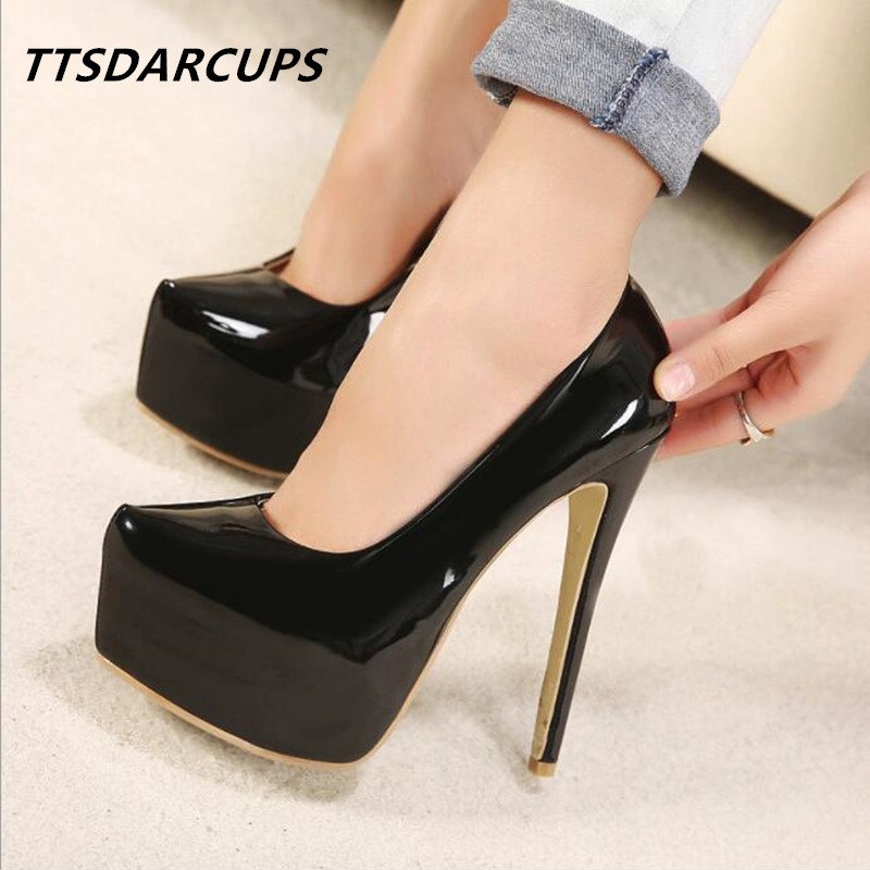 TTSDARCU new lady's elegance and high heels Europe and the United States are single high waterproof shoes Sexy night shop pumps europe and the united states 2015 new spring shoes and high heeled shoes asakuchi pointy suede 35 41 code