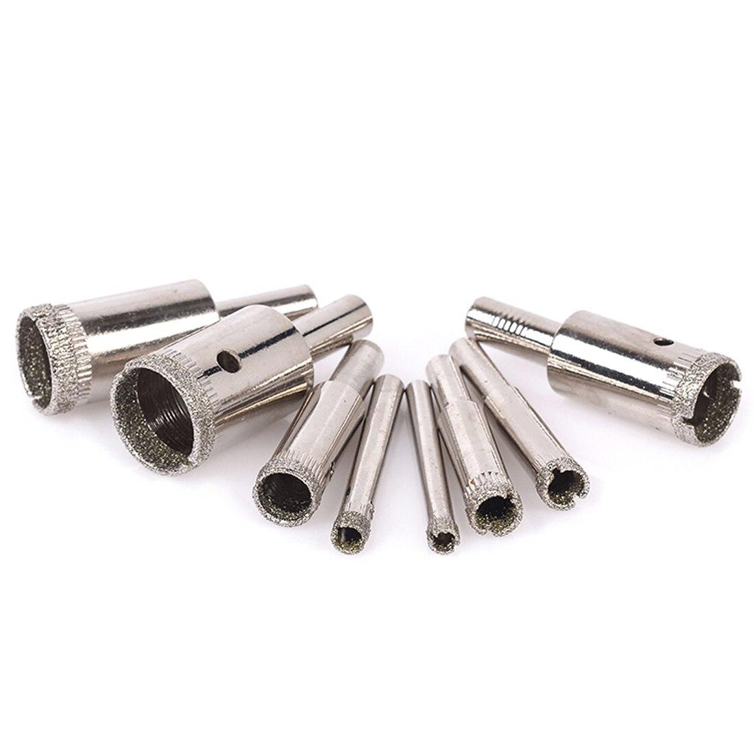 10 Pcs 3-13mm Diamond Tool Drill Bit Hole Saw Set Glass Ceramic Marble Tile Kit