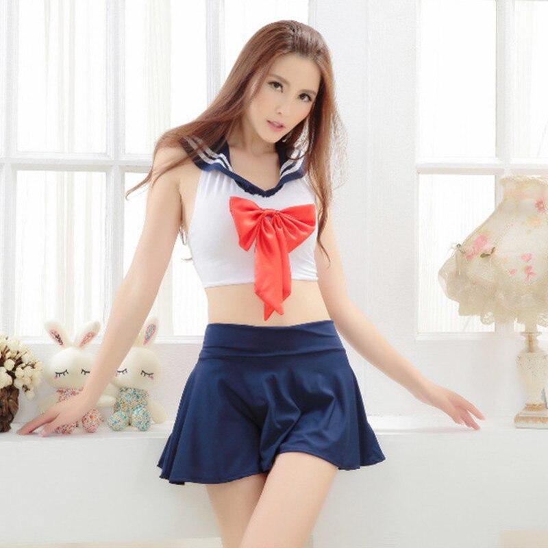 Women Sexy Lingerie Hot School Uniform Exotic Apparel Sexy C
