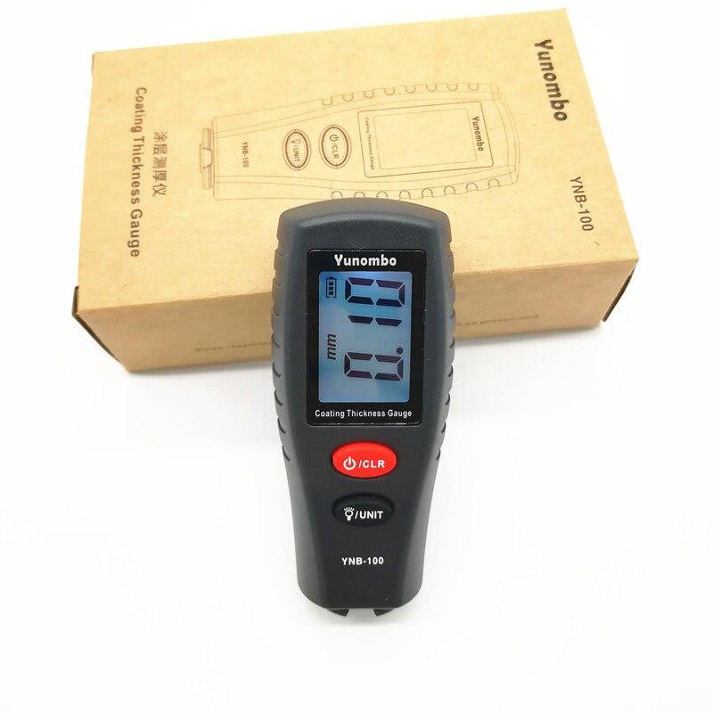 Yunombo Digital LCD con retroiluminación espesor de la película de pintura de coche espesor Tester medidor de espesor de revestimiento YNB-100
