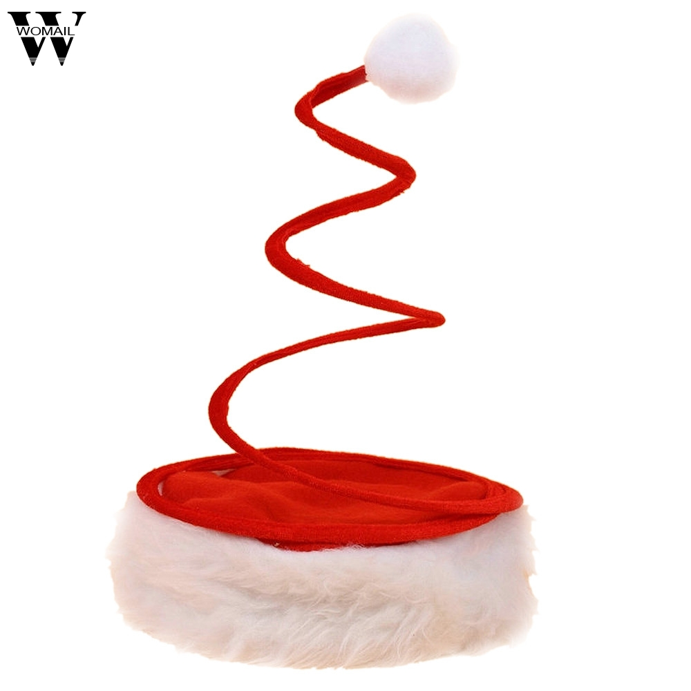 New Creative Christmas Holiday Elasticity Xmas Cap For Santa Claus Gifts Nonwoven Merry Christmas Decoration Hat 2018
