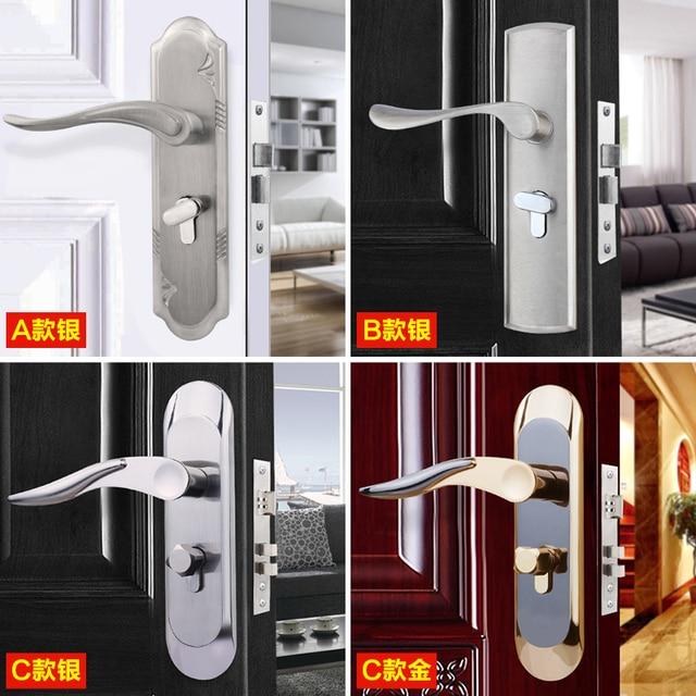 new aluminum alloy material interior door lock living room